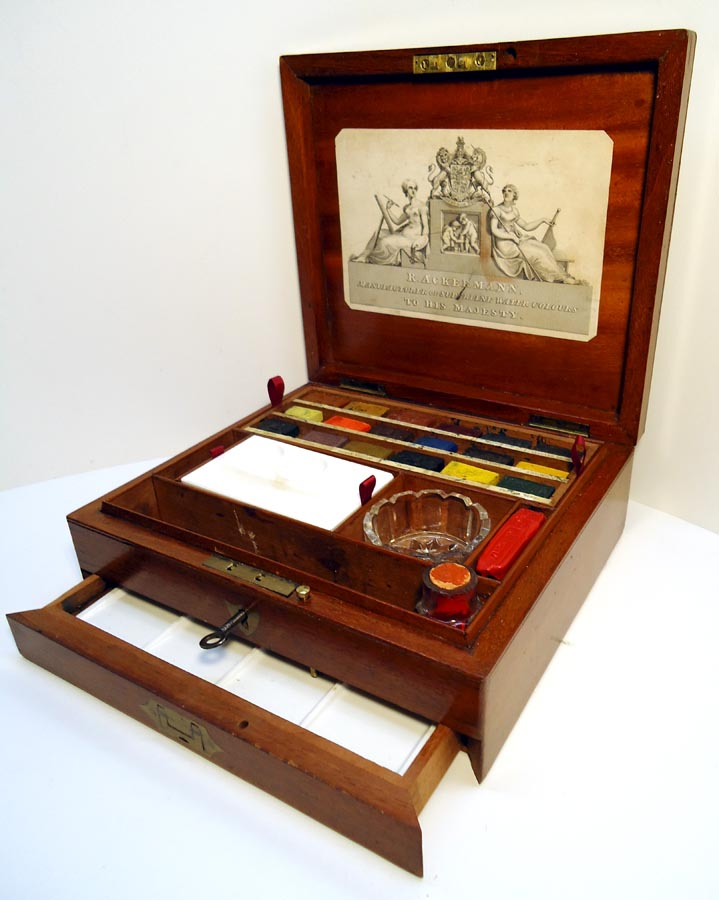 Antique Box Oil Paint Tubes
