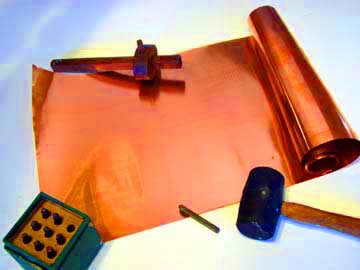embossed copper