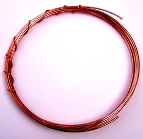 Craft wire for art jewelry and sculpture copper wire greentooth