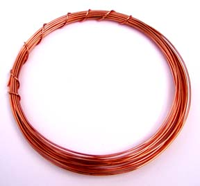 Craft wire for art jewelry and sculpture half round solid copper wire greentooth