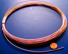 Craft wire for art jewelry and sculpture greentooth