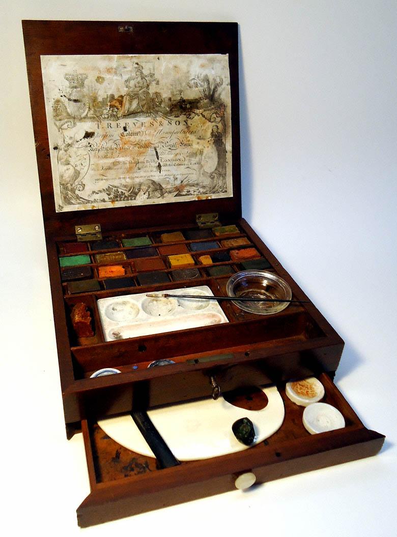 thomas reeves son watercolour watercolor paint box made
