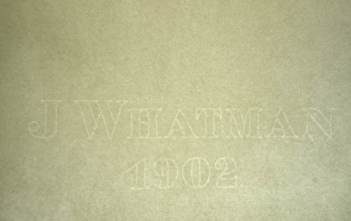 j whatman paper watermark Watermarks and the determination of format in british paper watermarks and the determination of format in british paper the watermark `j whatman.