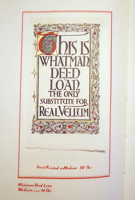whatman paper sample book 1931 rare