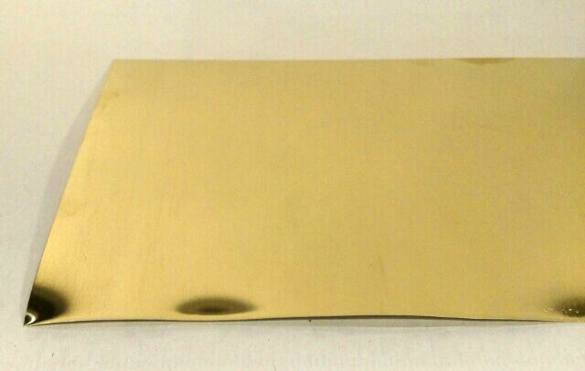 Red Brass Sheet 26 Gauge 6x3 for Jewelry Making Unpolished Mill Finish