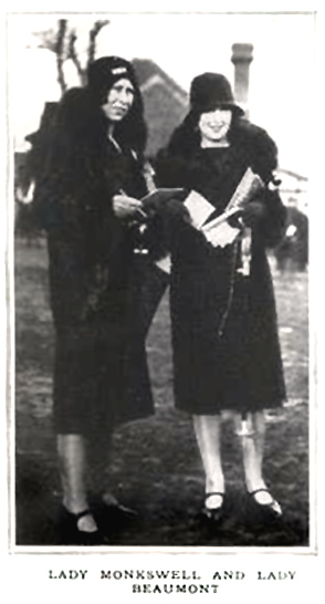 Lady Monkswell c.1929 on left